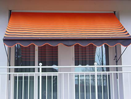 outlet außergewöhnliche Auswahl an Stilen und Farben neue Liste Angerer 2302/200 Klemmmarkise Dralon Nr. 200, Orange, 300 cm