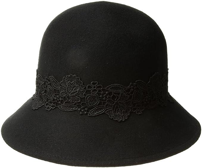 15a9d5d3de5 San Diego Hat Company Women s 2.5 Inch Brim Coche with Black Lace Trim