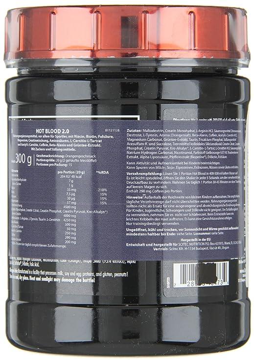 Amazon.com: Scitec Nutrition Hot Blood 2.0 Blood Orange 300g: Health & Personal Care
