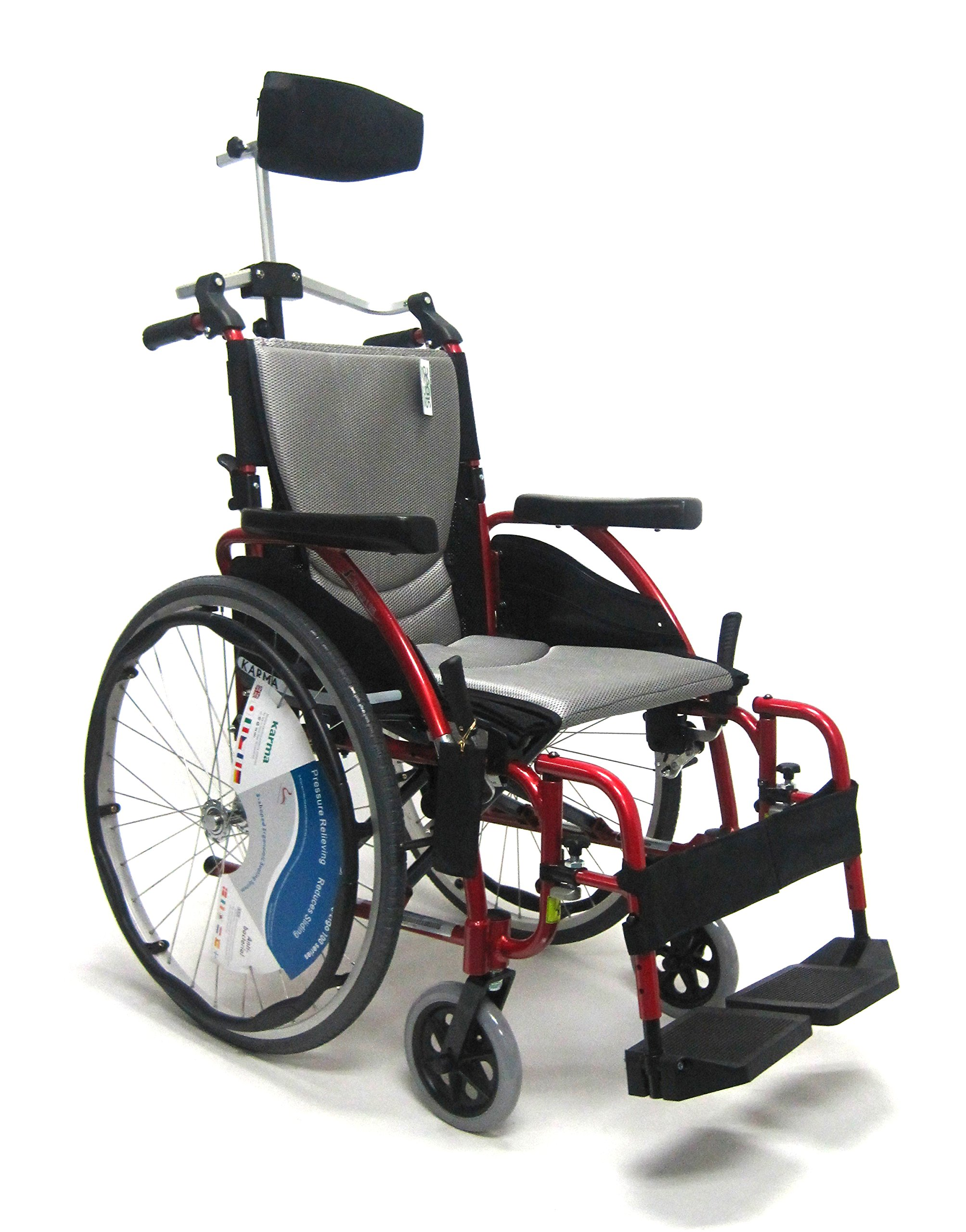 Karman Healthcare 25 Pounds S-115 Rose Red with Headrest, Rose Red, 25 Pound