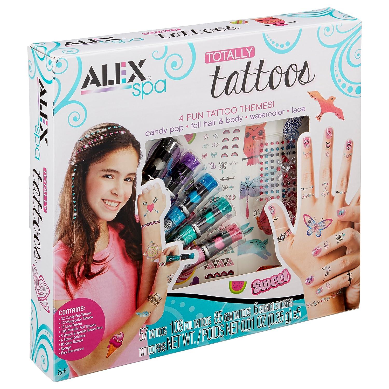 f95ce7165 Amazon.com: ALEX Spa Girls Totally Temporary Tattoo Kit: Toys & Games