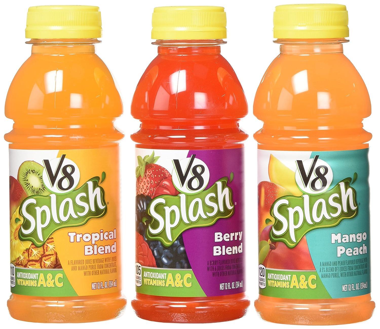 V8 Splash Variety Pack Juice (Pack of 18) 12 Fl Oz, 216 Fluid Ounce