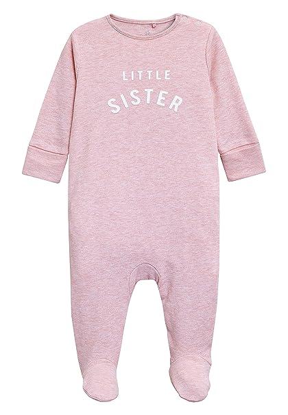next Bebé-Niñas Pijama Tipo Pelele con Texto Little Sister (0-18 Meses