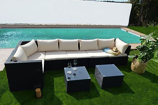 KieferGarden California sofá de jardín modular rinconero y cheislong: Amazon.es: Jardín