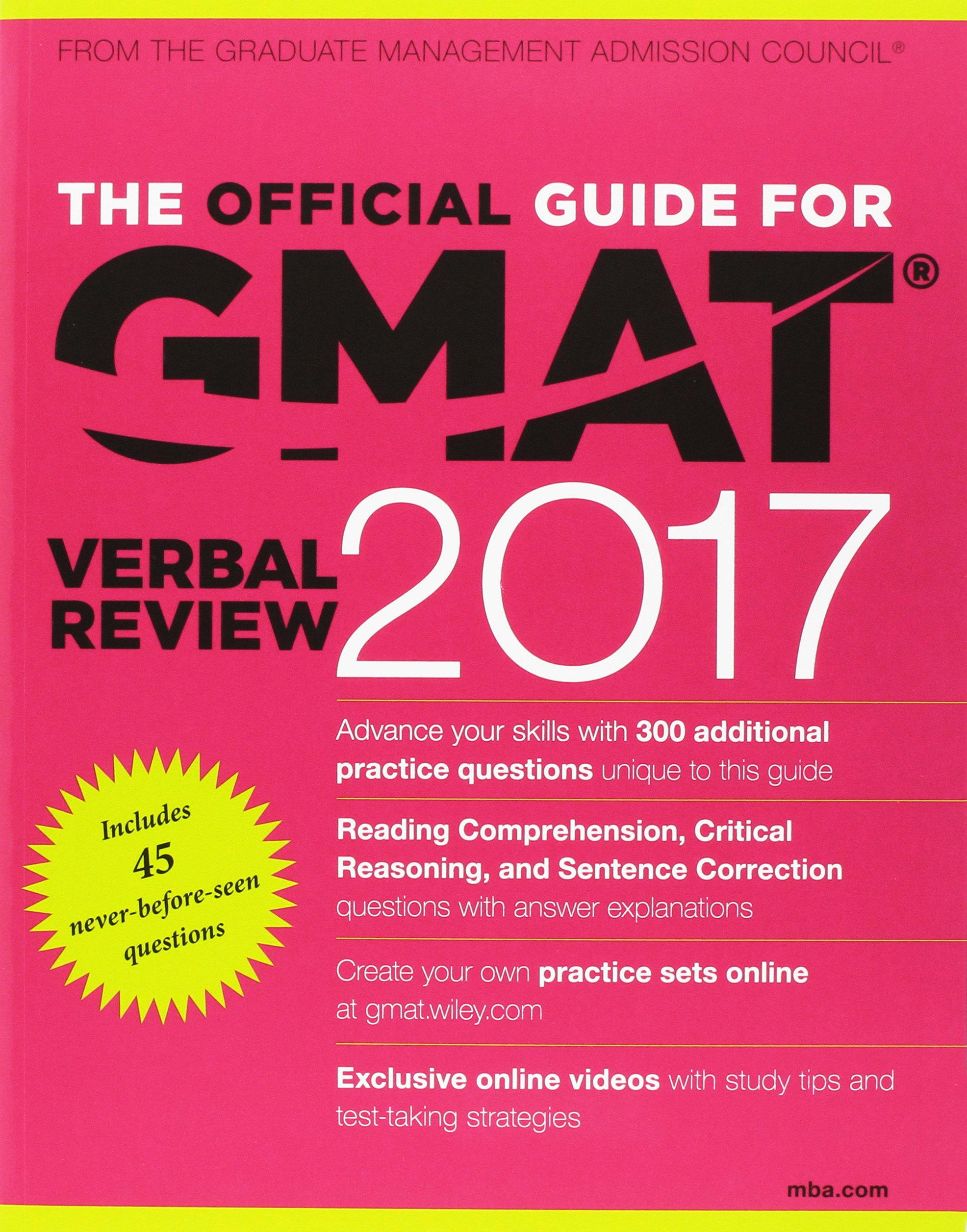 The official guide to the gmat review 2017 bundle question bank the official guide to the gmat review 2017 bundle question bank video gmac graduate management admission council 9781119254683 amazon books fandeluxe Image collections