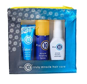 It's a 10 Haircare Miracle Styling Kit with Travel Size Miracle Styling Potion, Miracle Finishing Spray and Miracle Blowdry Volumizer