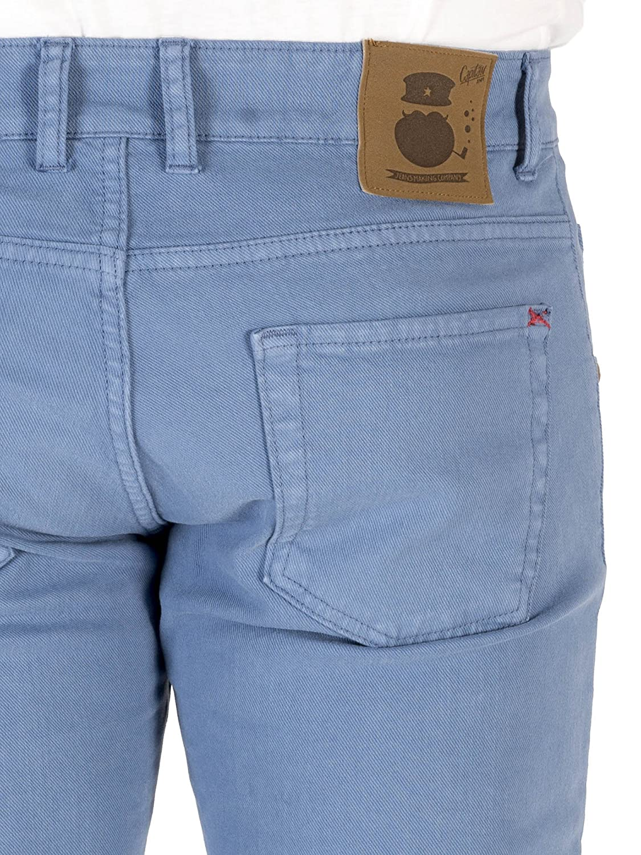 Capit/án Denim Flamingo Pantalones para Hombre