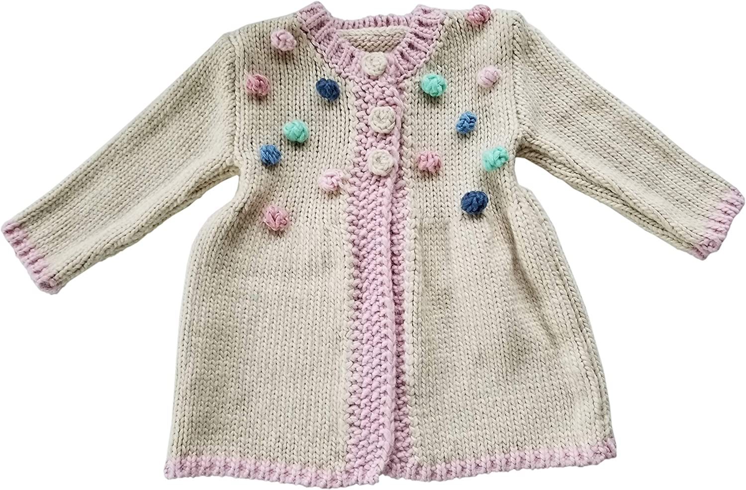 Huggalugs Baby and Toddler Girls Popcorn Dot Knit Beanie Hat or Sweater