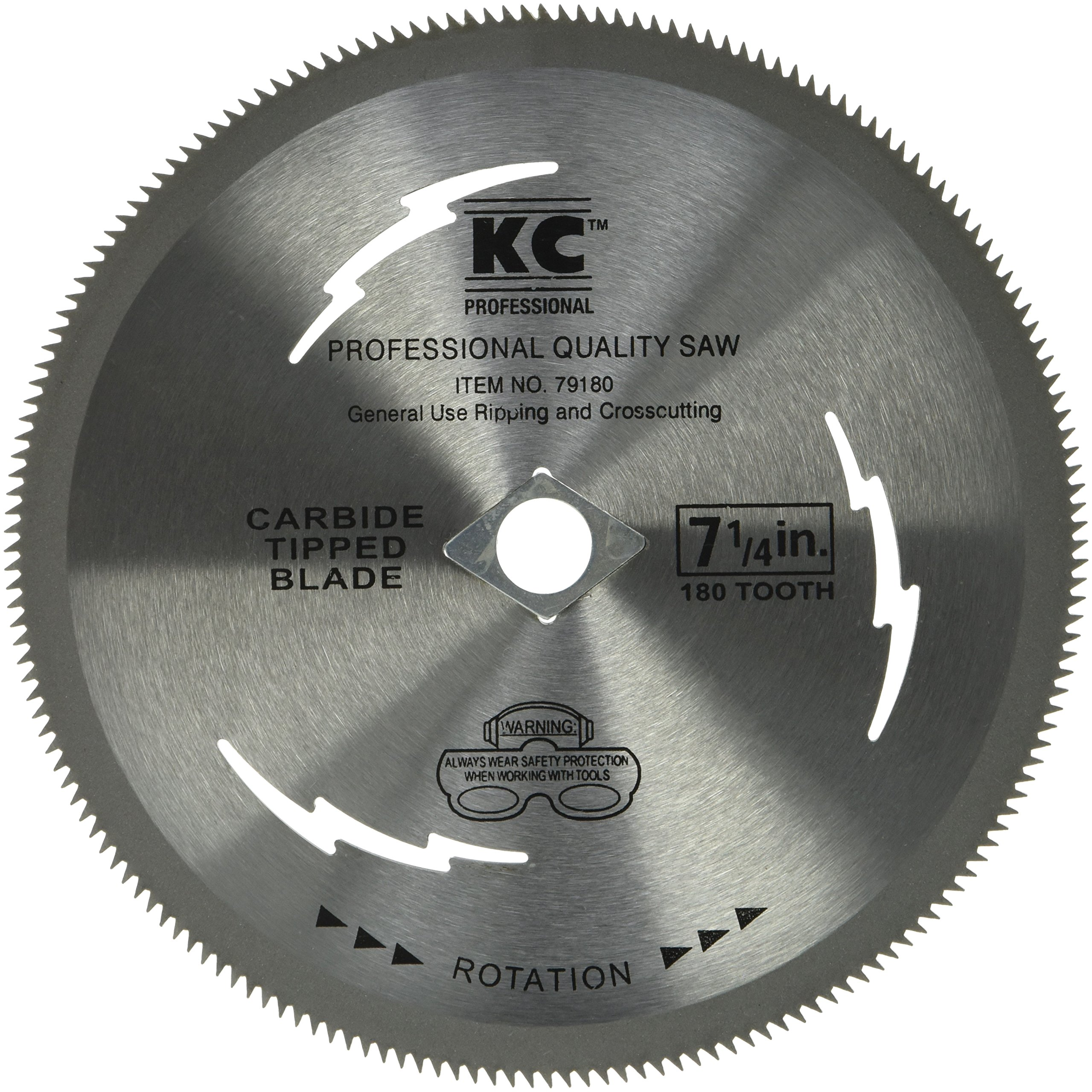 KC Professional 79180 180T Plywood Steel Blade, 7-1/4''