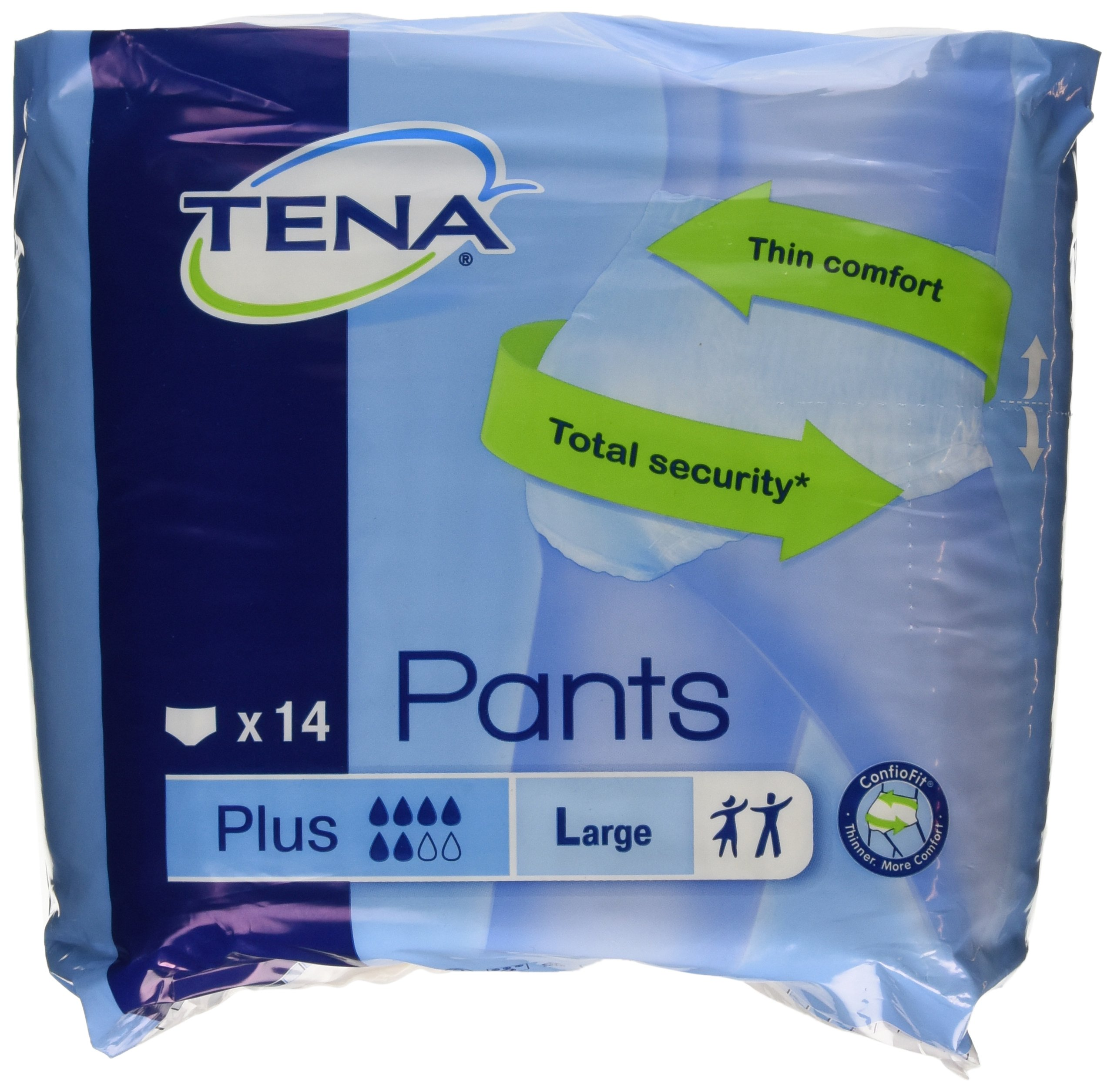 Tena - Pants - Pañales, Talla L - 14 unidades
