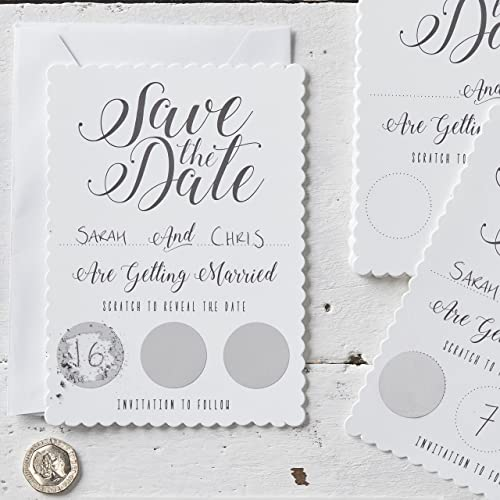 Silver Wedding Invitations Amazon: Wedding Invitations And Save The Date Cards: Amazon.co.uk
