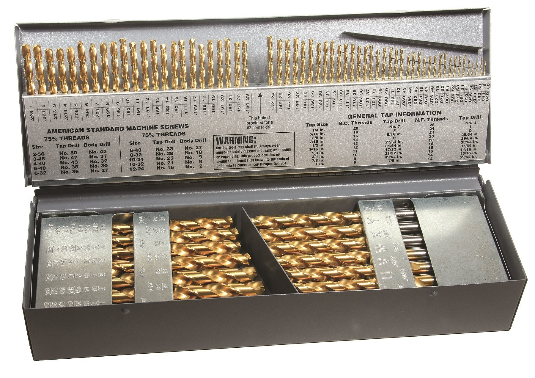 Viking Drill and Tool 79950 Type 240-DN M42 Cobalt 135 Degree Split Point (115 Piece)