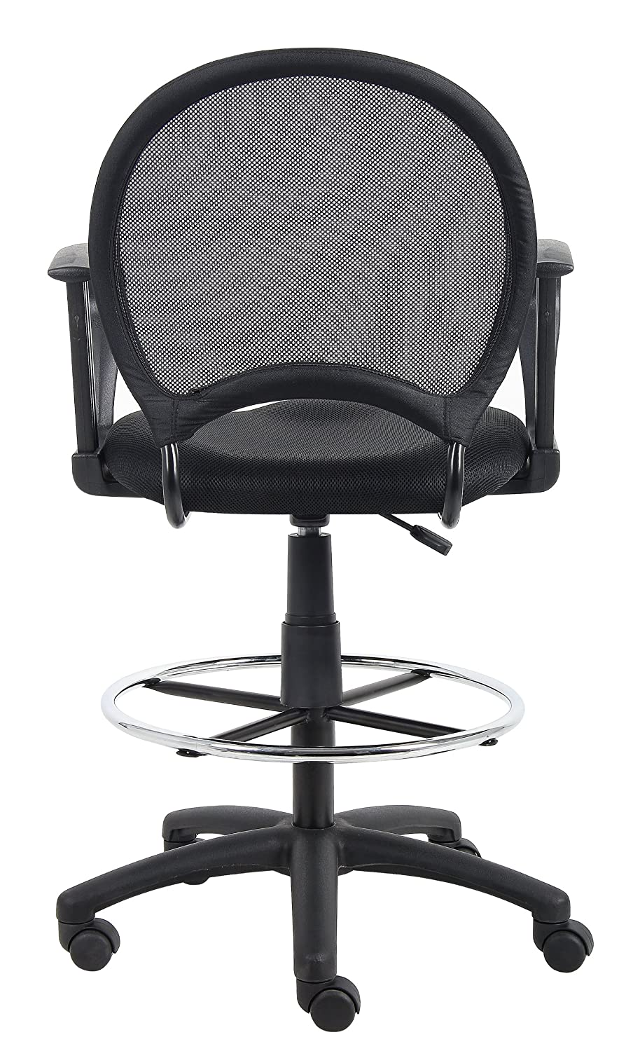 amazon com boss office products b16217 mesh drafting stool with