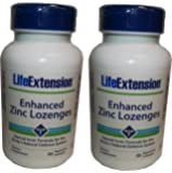 Life Extension Enhanced Zinc 30 Vegetarian Lozenges (2 Pack)