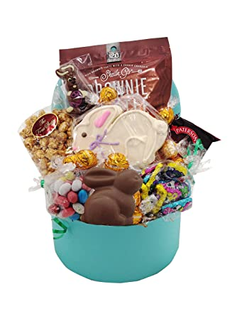 Easter gift of bunnies galore easter basket filled with chocolate easter gift of bunnies galore easter basket filled with chocolate sweets by camdyn gift baskets negle Gallery