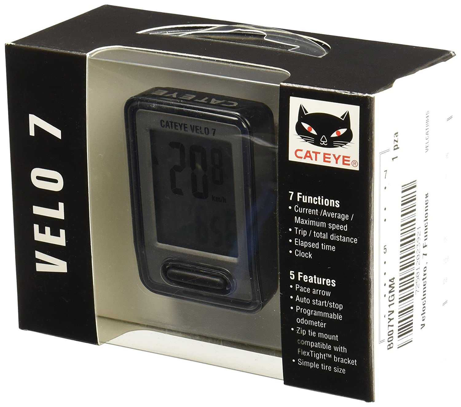 Amazon.com : CatEye Velo 7 Wired Bike Computer with Odometer and ...