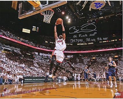 Fanatics Authentic Certified Autographed NBA Photos Dwyane Wade Miami Heat Autographed 16 x 20 Final Game Photograph