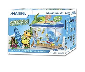 Marina Surfin Fantasy Kit de Acuario de plástico, 14 litros y plástico, para Acuario y Surf, Color Azul: Amazon.es: Productos para mascotas
