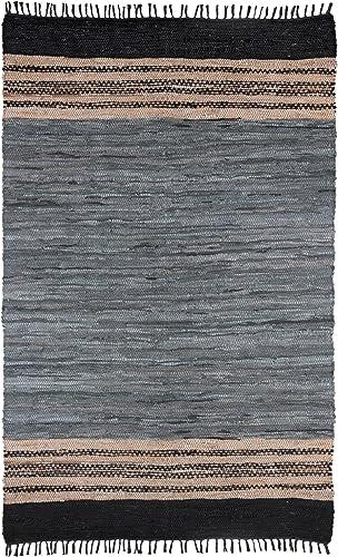 Gray Leather Matador 8 x10 Rug