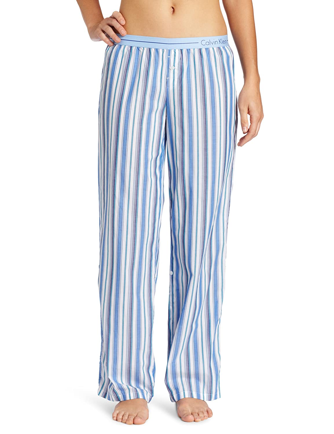 Calvin Klein Womens Roll Up Woven Pajama Bottom at Amazon Womens Clothing store: