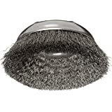 """Weiler Wire Cup Brush, Threaded Hole, Steel, Crimped Wire, 3"""" Diameter, 0.014"""" Wire Diameter, 5/8""""-11 Arbor, 1"""" Bristle Length, 14000 rpm (Pack of 1)"""