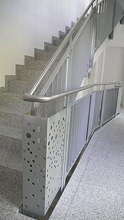 húmedas Gruber folletos para escaleras barandilla, pasamanos en la escalera, acero barandilla: Amazon.es: Industria, empresas y ciencia