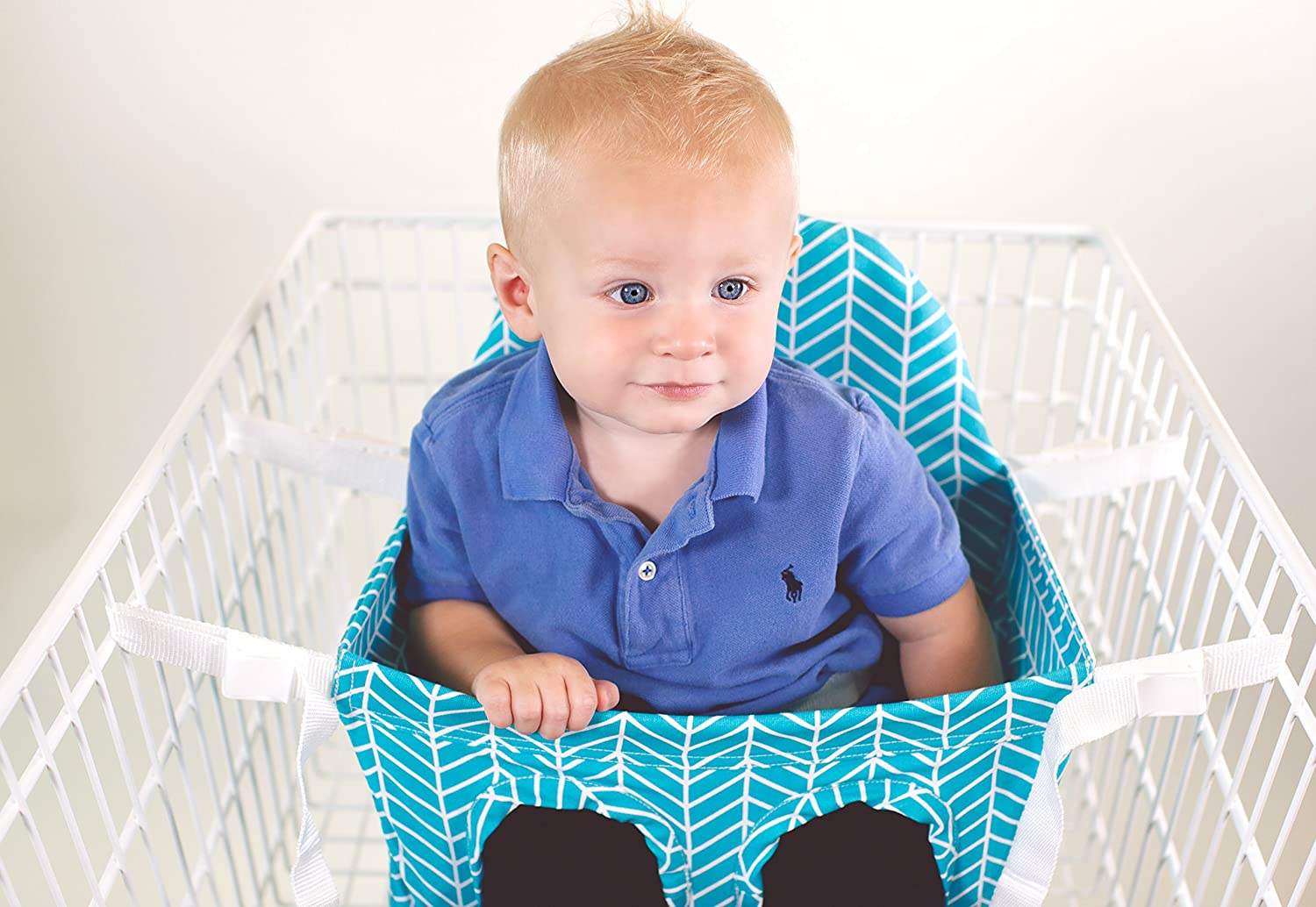 Amazon.com : Buggy Bench Shopping Cart Seat in Ocean Blue for Baby ...