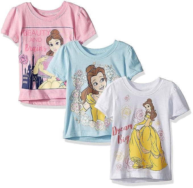 Amazon.com: Disney bebé niña 3 pc pack Belle SS tees: Clothing