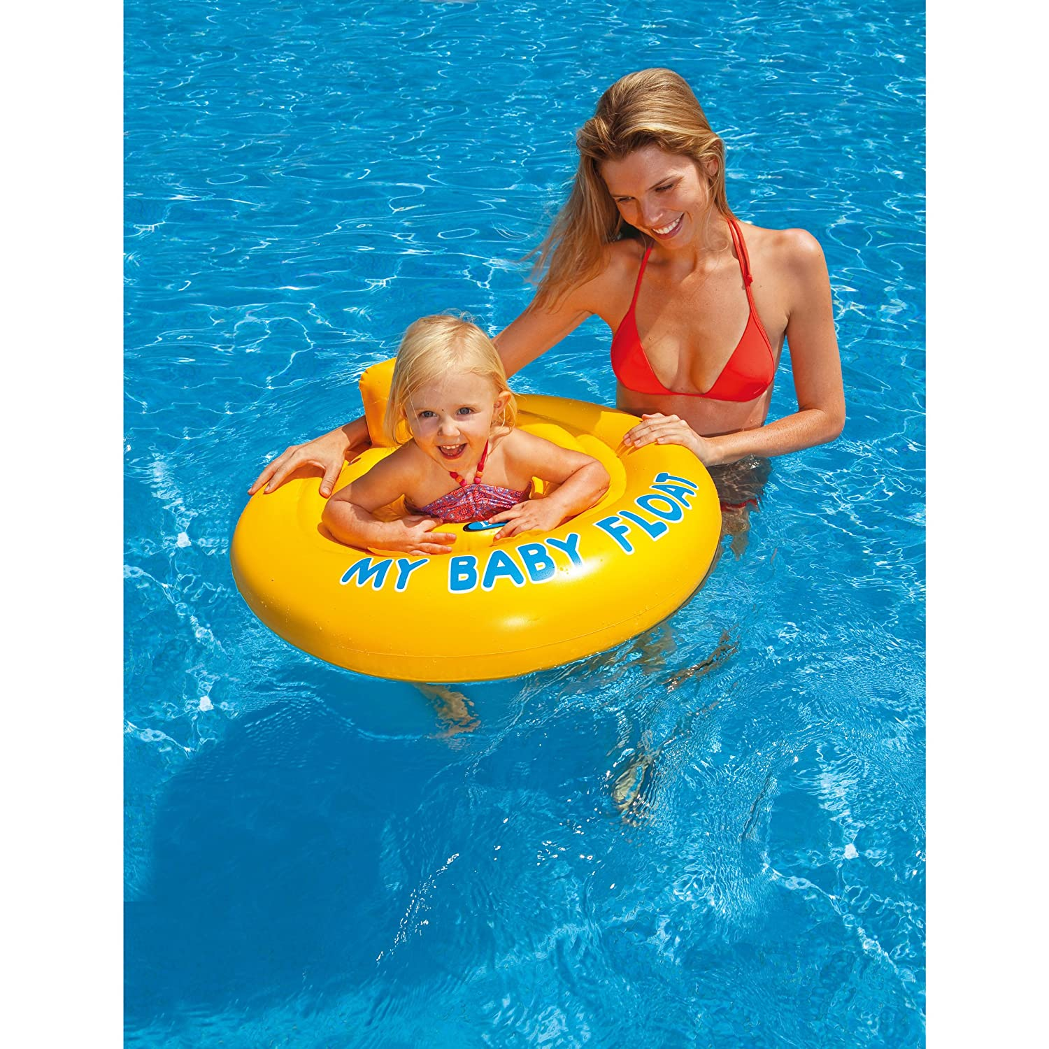 Amazon.com: Intex My Baby Float Swimming Aid Swim Seat 6 month - 1 ...