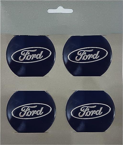 set di 4 adesivi con loghi Ford per coprimozzo Mr Wheel Trims