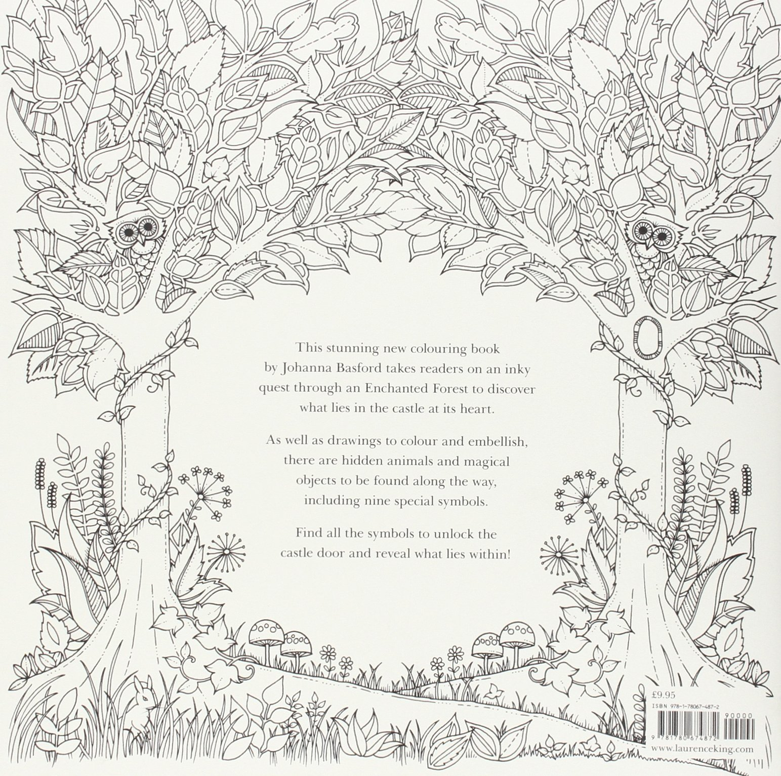 The enchanted forest coloring book uk - Enchanted Forest An Inky Quest And Colouring Book Amazon Co Uk Johanna Basford 9781780674872 Books