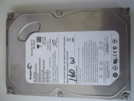 Seagate Barracuda ST3160815AS 160GB 7200 RPM 8MB Cache SATA 3.0Gb/s Hard Drive