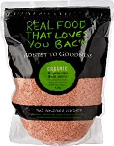 Honest to Goodness Organic Red Split Lentils, 1.2kg