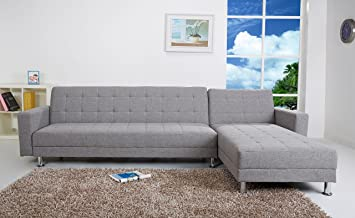 Amazon Com Gold Sparrow Frankfort Convertible Sectional Sofa Bed