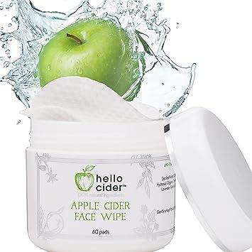 Apple Cider Vinegar Face Toner Pads - Witch Hazel,Tea Tree,Rose Geranium,  Lavender  Tone,