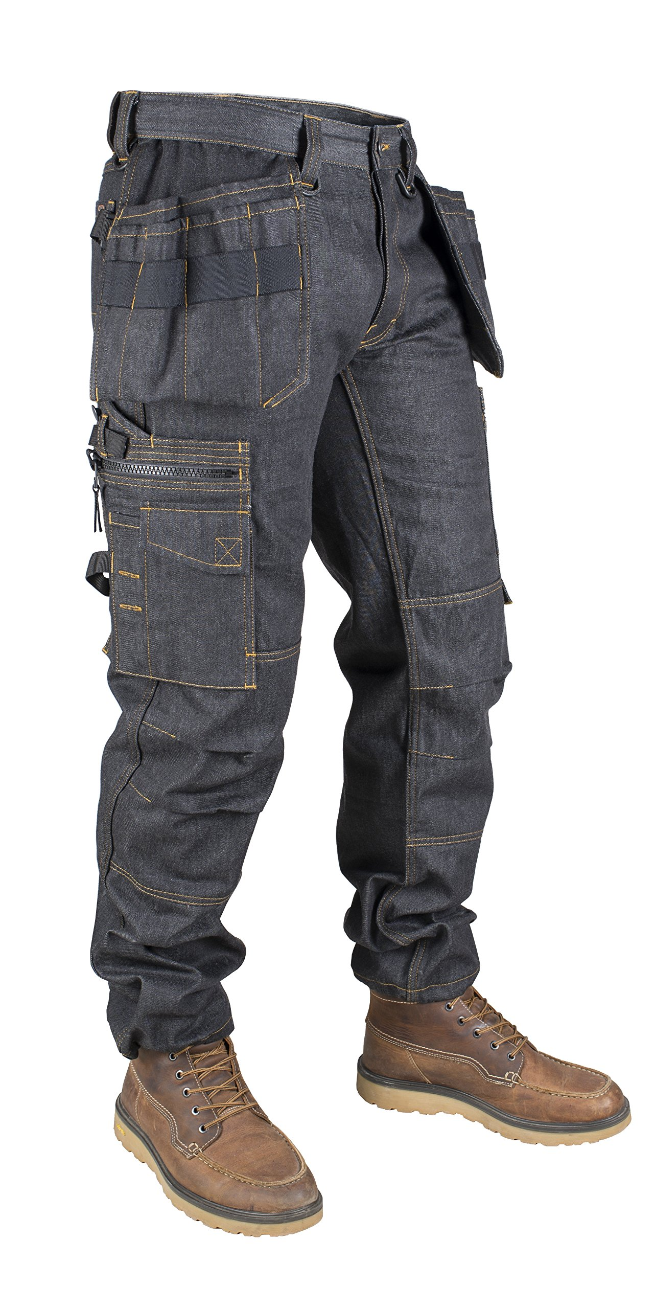 Snickers DW10152710004034''P15'' Trousers, W40/L34, Denim/Black