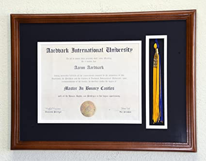 Amazon.com - Graduation Diploma and Tassel Display Frame for 11 x ...