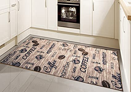 Tappeto moderno, tessuto piatto, gel-corridori, tappeti cucina ...