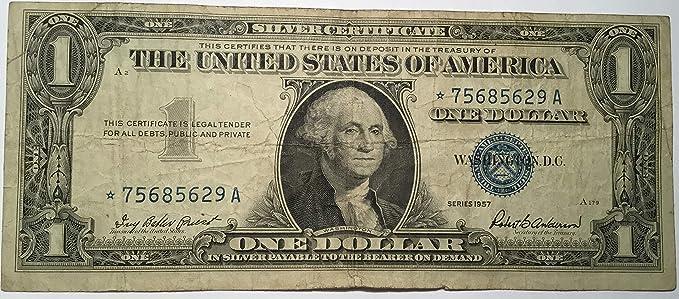 Amazon.com: 1957 Series Star ⭐ Blue Seal One Dollar Silver ...