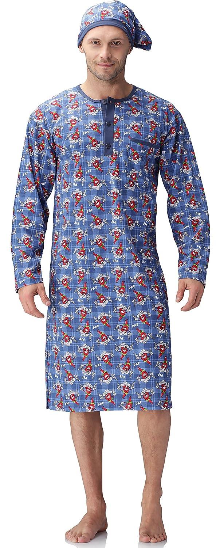 Cornette Herren Nachthemd mit Schlafmütze 110V2015: Amazon.de: Bekleidung