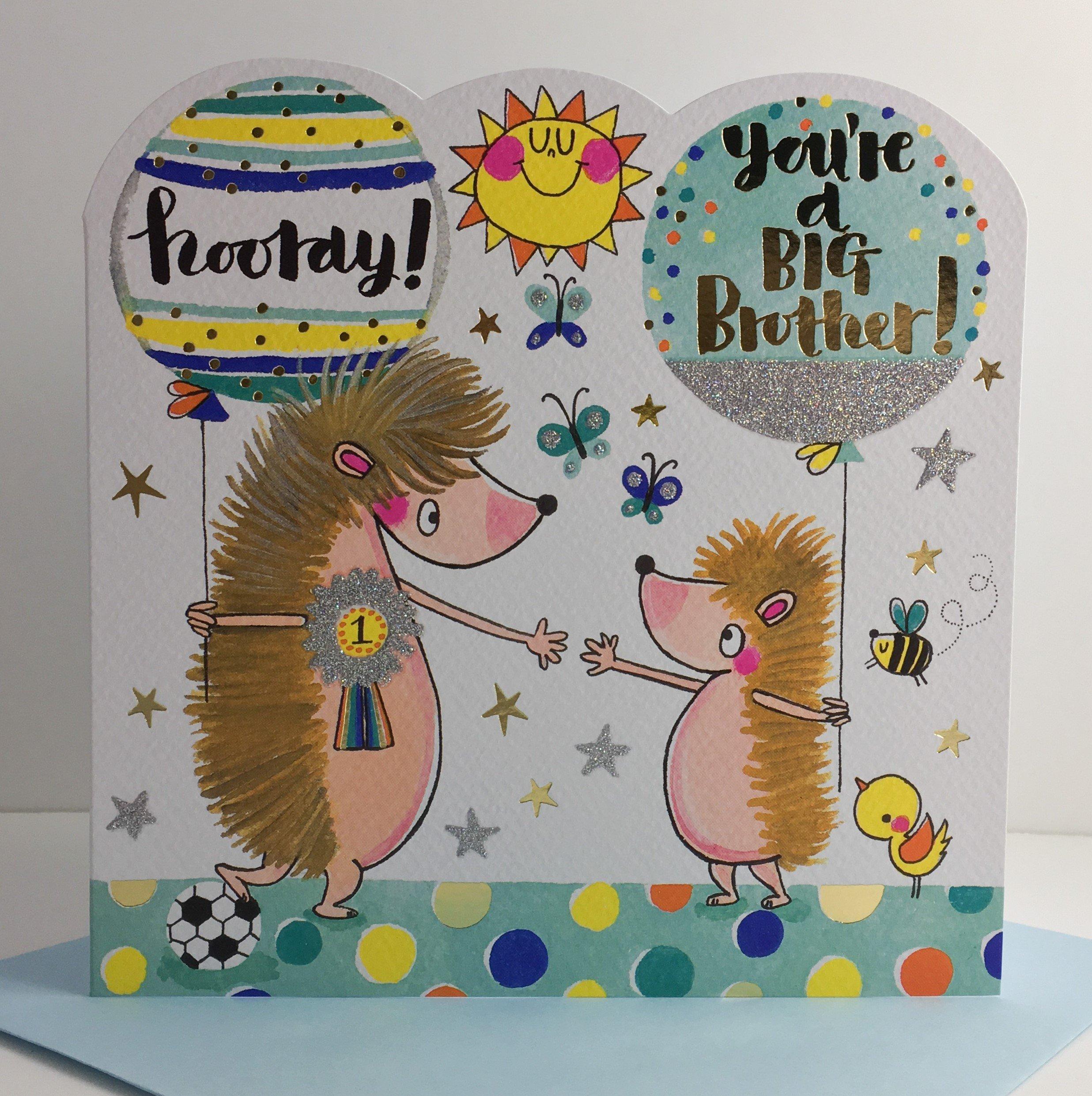 Rachel Ellen Designs - Spirit Range - You're A Big Brother - Hedgehogs