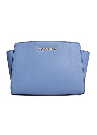 Image Unavailable. Image not available for. Color  Michael Kors Selma Zip Medium  Messenger in Cornflower b4d3140457