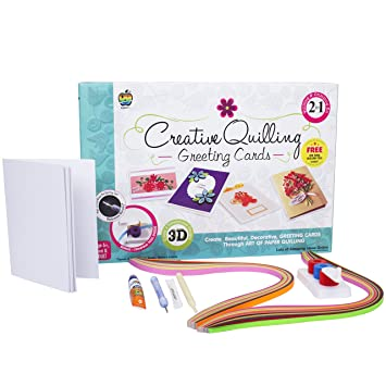 Buy Applefun 2 In 1 Creative Greeting Cards Quilling Multi Color Online At Low Prices India