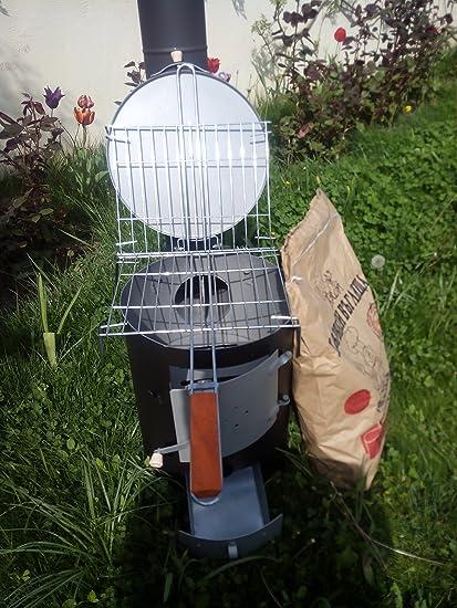 Estufa de leña Estufa de Camping barbacoa de jardín Taller parrilla 5 kW