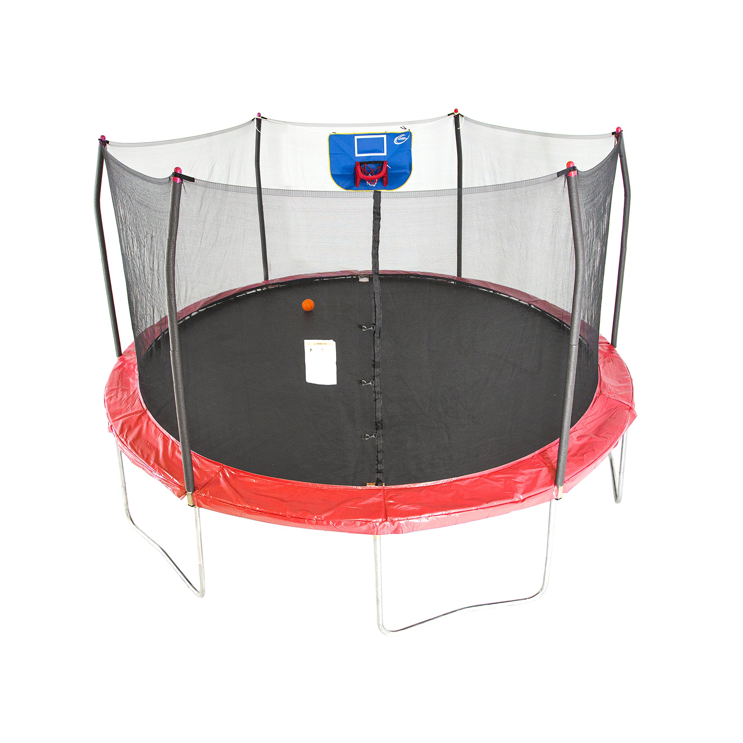 Skywalker Trampolines 15-Foot Jump N' Dunk Trampoline with Enclosure Net - Basketball Trampoline by Skywalker Trampolines