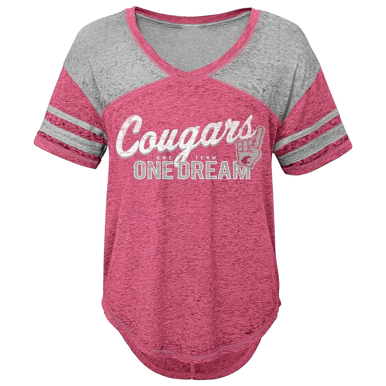 3-5 Team Color Small NCAA Washington State Cougars Juniors Outerstuff Vintage Short Sleeve Football Tee