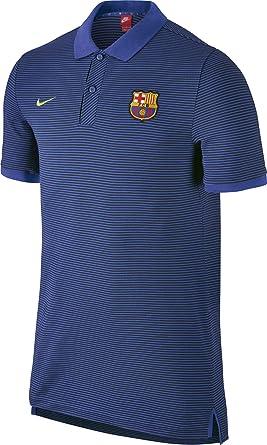 Nike FCB Auth GS Slim Polo Camiseta de Manga Corta FC Barcelona ...