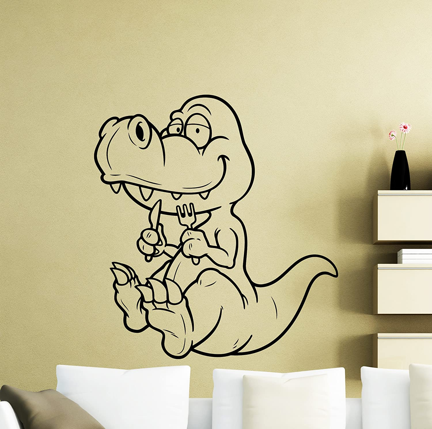 Amazon.com: Cartoon Dinosaur Wall Decal Nursery Vinyl Sticker Home ...
