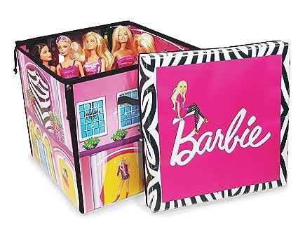 Barbie ZipBin 40 Doll Dream House Toy Box U0026 Playmat