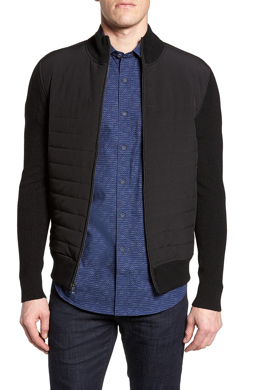 [ブガッチ] メンズ ジャケットブルゾン Bugatchi Quilted Front Wool Zip Front Sw [並行輸入品] B07C3D6HYV Large
